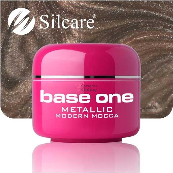 Gel UV Base One Silcare metalic Modern Mocca 5 ml